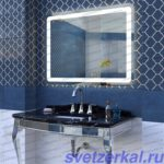 Зеркало со светодиодной подсветкой для ванной комнаты AZA