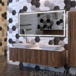 Зеркало с подсветкой в ванную комнату купить в Москве
