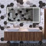 Зеркало с подсветкой для ванной комнаты купить в Москве