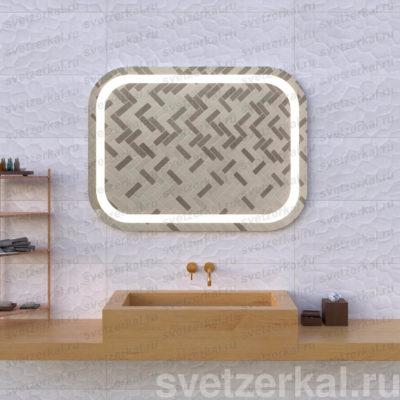Зеркало с подсветкой для ванной adele