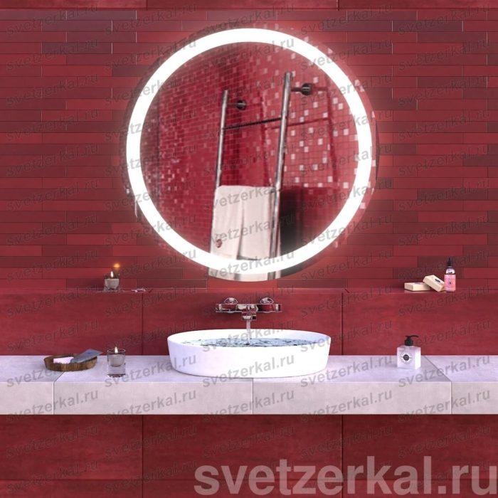 Зеркало с подсветкой для ванной krug