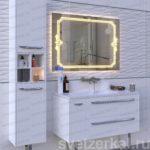 Зеркало со светодиодной подсветкой с обогревом Erica