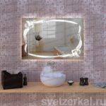 Зеркало с подсветкой для ванной комнаты teffi