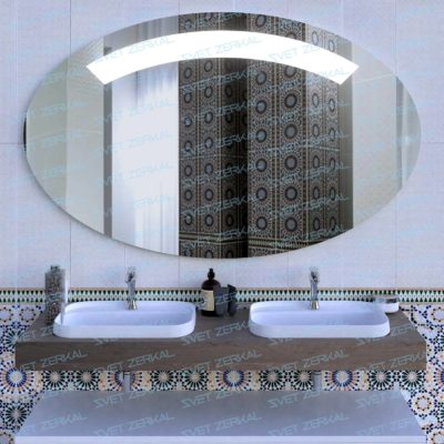 зеркало с led подсветкой в ванной