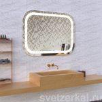 Зеркало со светодиодной подсветкой для ванной комнаты adele