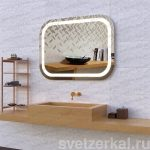 Зеркало с лед подсветкой для ванной комнаты adele