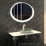 Купить Овальное зеркало на заказ с подсветкой Москва