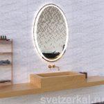 Зеркало со светодиодной подсветкой для ванной комнаты margo