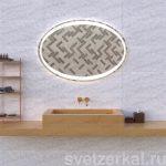 Зеркало с подсветкой для ванной комнаты margo