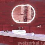 Зеркало с подсветкой для ванной Rima
