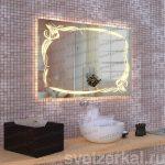 Зеркало со светодиодной подсветкой для ванной комнаты teffi