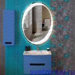 Овальное зеркало для ванной комнаты с подсветкой Москва