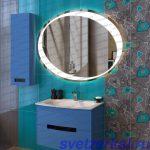 Овальное зеркало для ванной комнаты с подсветкой в Москве